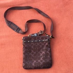 Coach Cross Body Small Brown Purse